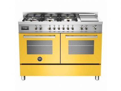 120cm Bertazzoni Professional PRO120-6G-MFE-D-GIT in Yellow with 6 burners